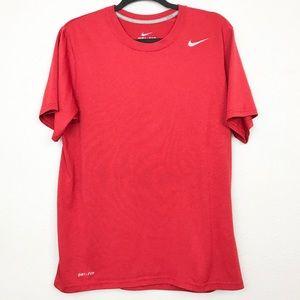 Nike Shirts - Nike Dri-Fit Red Athletic Shirt Men's Sz medium